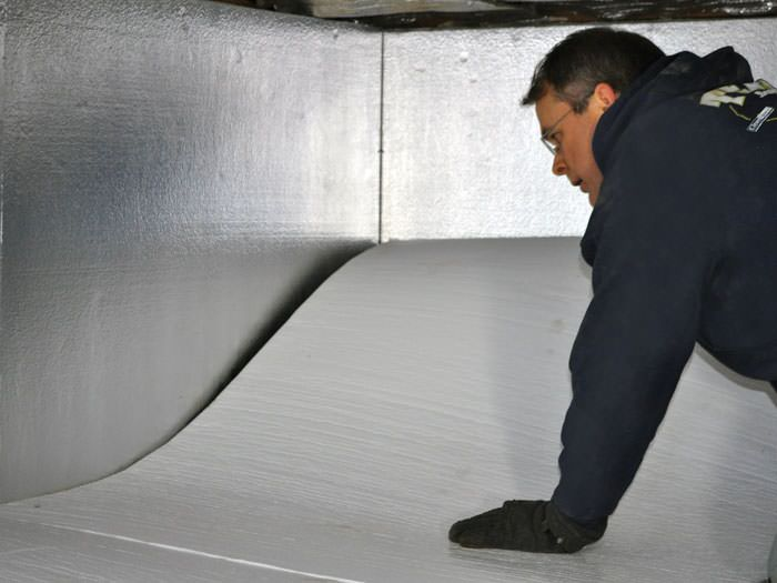 Crawl space insulation with terrablock in california Crawl space flooring